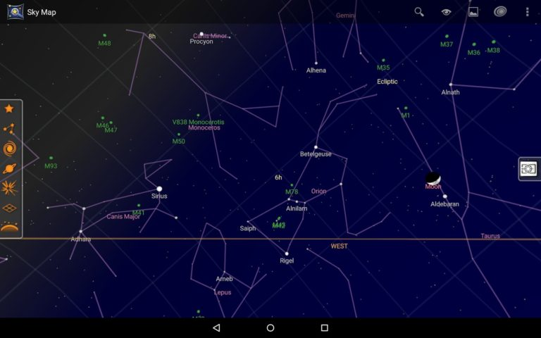 Sky Map для Android