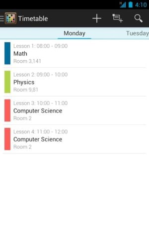Timetable для Android