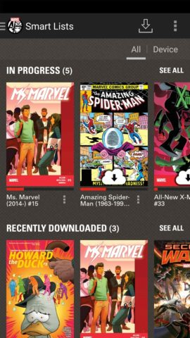 Marvel Comics для Android