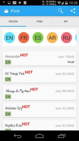 iFont для Android