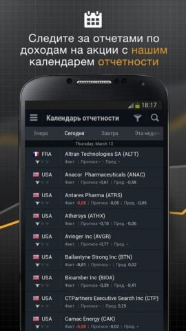 Investing для Android