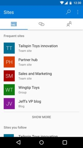 SharePoint для Android