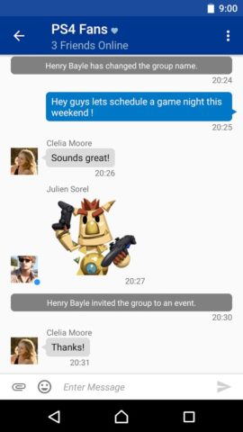 PlayStation Messages для Android