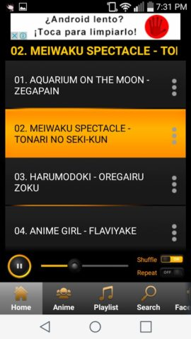 Anime Music для Android