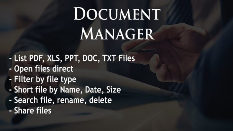 Document Manager для Android