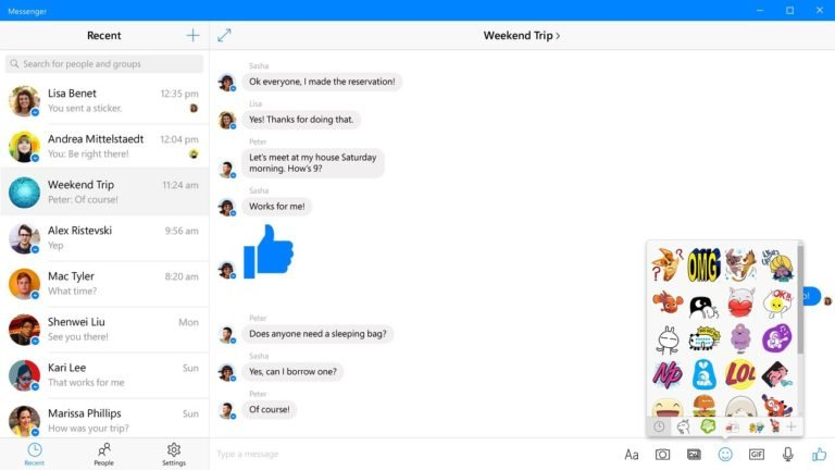 Facebook Messenger для Windows