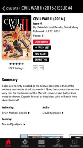 Marvel Comics для iOS