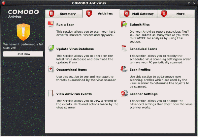 Comodo Antivirus for Windows